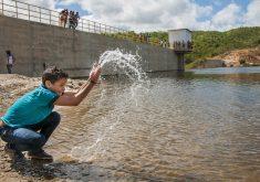 Açudes cheios são alegria no Ceará. (Foto: Divulgação/Governo do Estado)