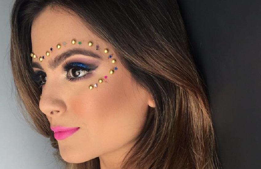 Make para o Carnaval: saiba os cuidados ao usar pedrarias na maquiagem