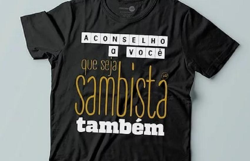 Designer cearense aposta em camisas com estampas temáticas de samba