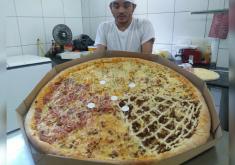 """A pizza """"Coração de Vó"""" foi lançada há um ano (FOTO: Repdução/WhatsApp)"""