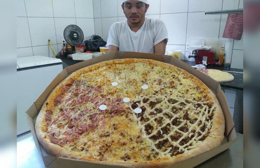 Pizzaria de Fortaleza vende pizzas com 70cm e 90cm de diâmetro, as maiores da cidade