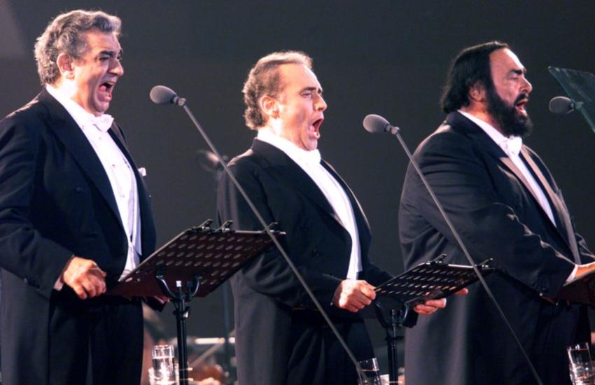 Os homenageados: Carreras, Domingo e Pavarotti (FOTO: Divulgação)
