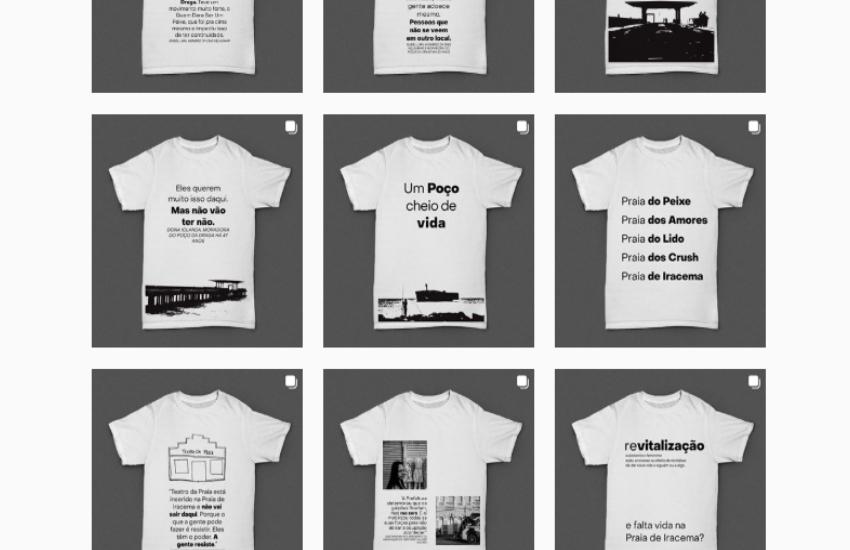 Estudante de jornalismo faz como TCC uma reportagem estampada em 11 camisas