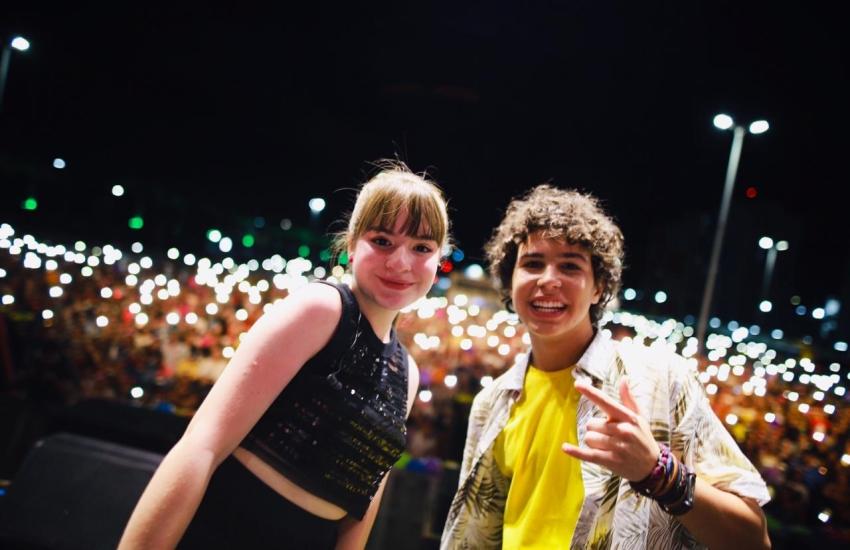 Igor e Sophia animaram a garotada neste sábado (FOTO: Divulgação/TV Jangadeiro)