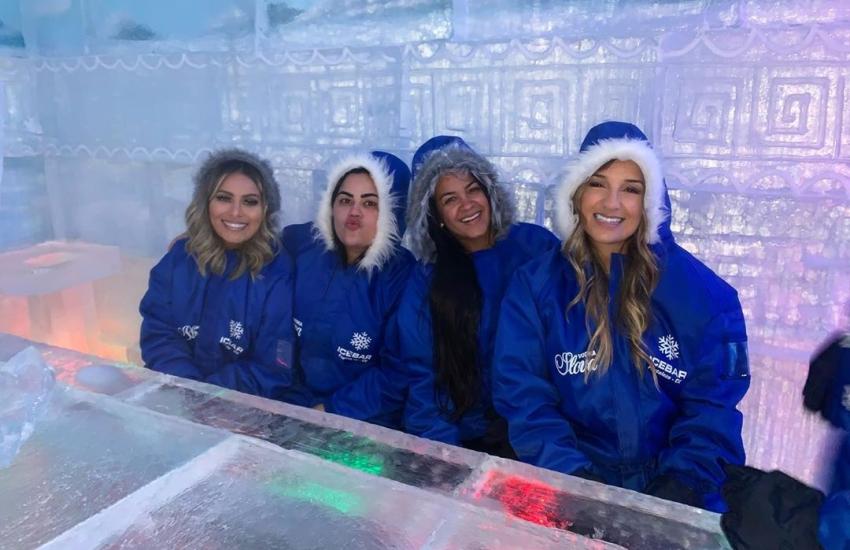 Maior bar de gelo do mundo fica em Fortaleza e tem queda de neve em tempo real