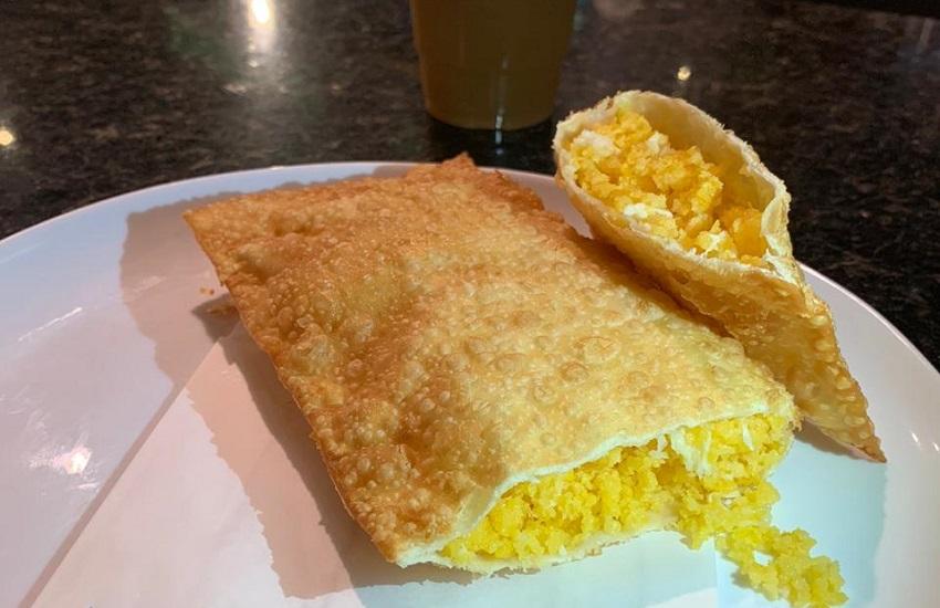 Pastel com cuscuz é lançado por restaurante em Fortaleza (FOTO: Divulgação/Boteco do Imprensa Food Square)