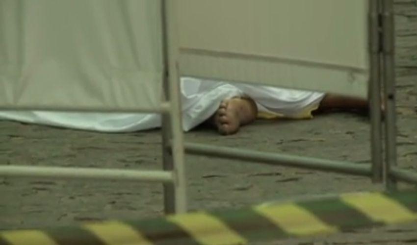 Crime passional na porta do hospital (FOTO: Reprodução TV Jangadeiro)