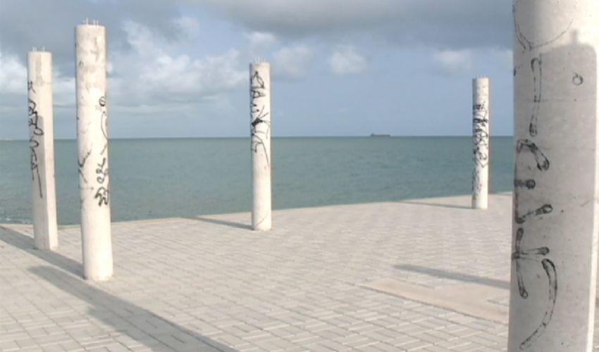 Ponto turístico de fortaleza apresenta problema (FOTO: Reprodução TV Jangadeiro)