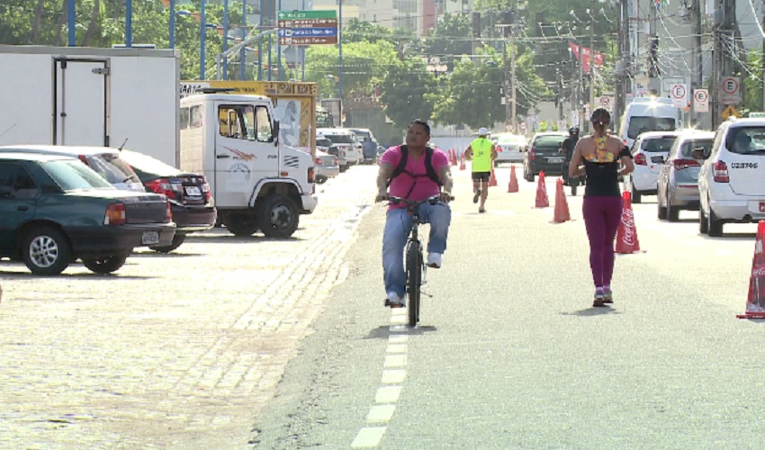 Beira Mar recebe nova ciclovia e reduz vagas de estacionamento