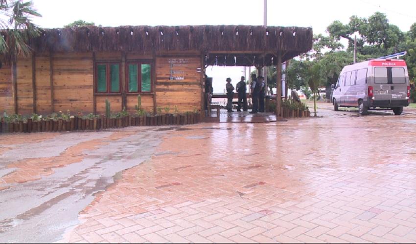 Posto de comando da polícia funciona 24 horas (FOTO: Reprodução TV Jangadeiro)
