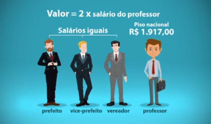 Prefeito e vereador com salário de professor (FOTO: Reprodução TV Jangadeiro)