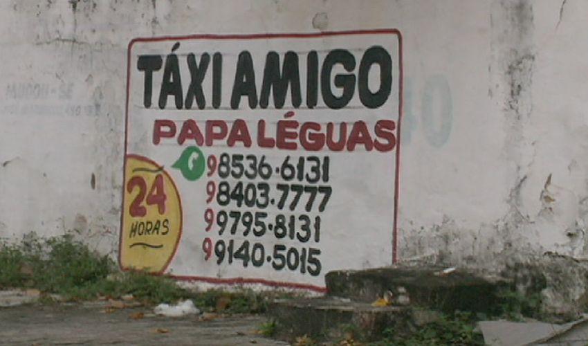 O serviço de táxi amigo é irregular (FOTO: Reprodução TV Jangadeiro)