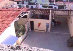 Aulas foi retomada menos de 24 horas após o desabamento (FOTO: Reprodução TV Jangadeiro)