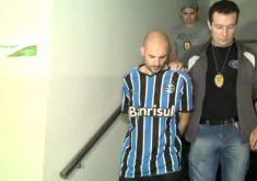 Marcelo Barberena é acusado de matar a esposa e a filha de 8 meses. (FOTO: reprodução/ TV Jangadeiro)