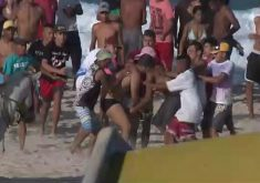 Feriado é marcado por arrastões em ponto turístico (FOTO: Reprodução TV Jangadeiro)