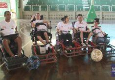Equipe de futebol em cadeira de rodas(FOTO: Reprodução TV Jangadeiro)