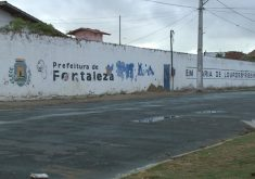 Escola municipal de Fortaleza pode desabar (FOTO: Reprodução TV Jangadeiro)