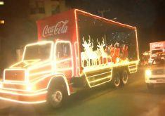 Beach Park recebeu a mágica caravana de natal (FOTO: Reprodução TV Jangadeiro)