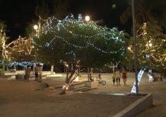Praça do Mirante está toda iluminada para o natal (FOTO: Reprodução TV Jangadeiro)
