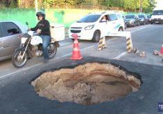 Sempre é o mesmo problema na avenida Eduardo Girão (FOTO: Reprodução Nordestv)