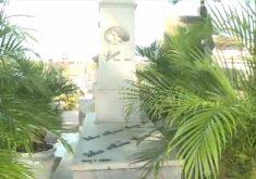 Três túmulos são considerados santos no Cemitério São João Batista(FOTO: Reprodução TV Jangadeiro)