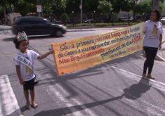 Garotinha pede ajuda para realizar sonho se ser modelo (FOTO: Reprodução TV Jangadeiro)