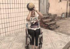Aline, verdadeiro exemplo de superação (FOTO: Reprodução TV Jangadeiro)