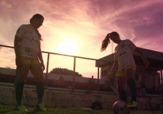 Mãe e filha jogadoras jogam futebol no mesmo time (FOTO: Reprodução TV Jangadeiro)