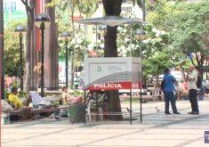 Falta de policiamento ostensivo no centro de Fortaleza (FOTO: Reprodução TV Jangadeiro)