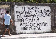 Pichações ameaçam população (FOTO: Reprodução TV Jangadeiro)