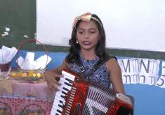 Cheia de talentos sanfoneira de 9 anos é sucesso no Ceará Pimentinha do forró (FOTO: Reprodução Nordestv)
