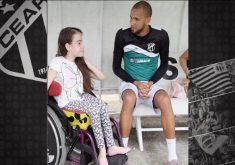 Garota com hidrocefalia é fã do Ceará (FOTO: Reprodução TV Jangadeiro)