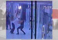 Ladão é preso após assaltar loja de celular no em shopping em Fortaleza (FOTO: Reprodução TV Jangadeiro)