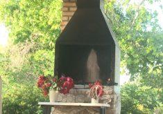 Imagem de santa aparece dentro de churrasqueira(FOTO: Reprodução TV Jangadeiro)