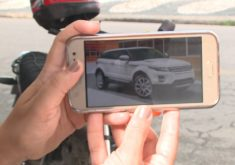 O carro foi registrado em um endereço inexistente (FOTO: Reprodução/TV Jangadeiro)