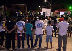 Pastores realizam culto em local onde aconteceu a Chacina(FOTO: Reprodução TV Jangadeiro)
