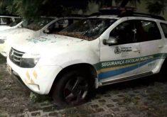 Veículos da Segurança Escolar estão com defeito(FOTO: Reprodução TV Jangadeiro)