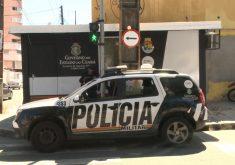 Uma das bases foi instalada na Rua Beni de Carvalho (FOTO: Reprodução/TV Jangadeiro)