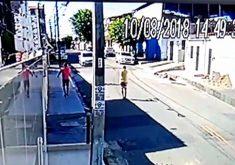 Vídeo mostra momento de ação dos bandidos contra motorista(FOTO: Reprodução TV Jangadeiro)
