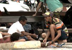 fala Tiago sa Silva.Milhares de pessoas vivem em condições de rua em Fortaleza (FOTO: Reprodução TV Jangadeiro)