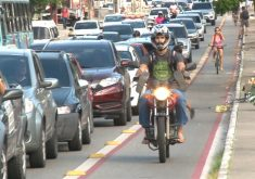Transitar em ciclovia ou ciclofaixa pode gerar multa(FOTO: Reprodução Nordestv)