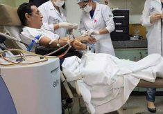 Pai faz doação de órgão para o filho (FOTO: Reprodução Nordestv)