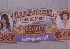 Carrossel da Alegria conta com aparticipação dos atores da novela as Aventuras de Poliana(FOTO: Reprodução TV Jangadeiro)