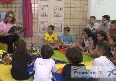 Projeto ajuda o desenvolvimento da leitura(FOTO: Reprodução TV Jangadeiro)