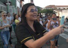 Morgana Camila Oliveira ganha fama apos vídeo de narração de escola de samba (FOTO: Reprodução TV Jangadeiro)