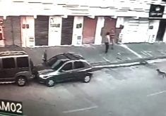 Bandidos levam carro de trabalhador em Fortaleza (FOTO: Reprodução TV Jangadeiro)
