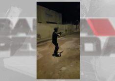 Tiros e pichações: bandidos atacam e expulsam famílias (FOTO: Reprodução TV Jangadeiro)