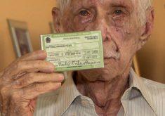 Seu Antônio de 93 anos faz questão na eleições (FOTO: Reprodução TV Jangadeiro)