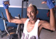 Evilásio dos Santos se prepara para ser o homem mais bonito do Ceará (FOTO: Reprodução TV Jangadeiro)