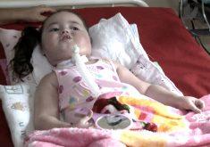 Com 3 anos Lisiane foi diagnosticada com uma doença rara (FOTO: Reprodução TV Jangadeiro)